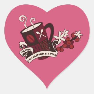 Coffee Bean Caffeine Latin Heart Sticker