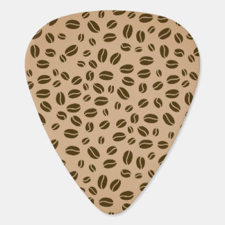 Coffee beans seamless pattern guitar pick