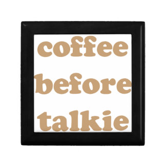 Coffee before talkie gift box