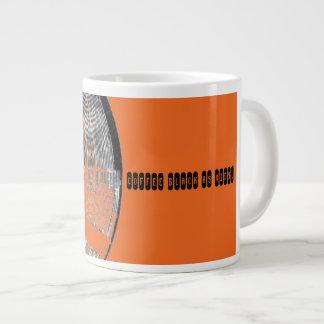 Coffee Black as Vinyl Orange Mug Jumbo Mug