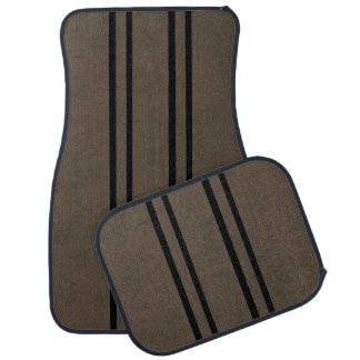 Coffee Brown Velvet Personalized Home Casino Car Mat