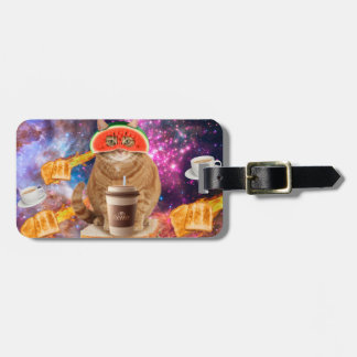 Coffee cat-breakfast cat-orange cat-watermelon cat luggage tag