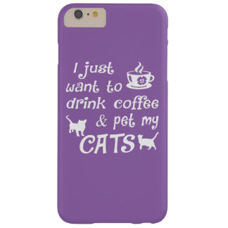 Coffee & Cats Barely There iPhone 6 Plus Case
