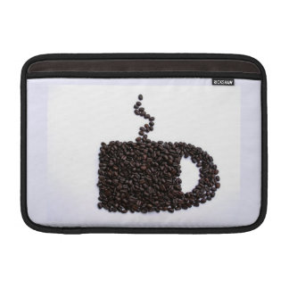 Coffee Cup, Coffee Beans MacBook Sleeve