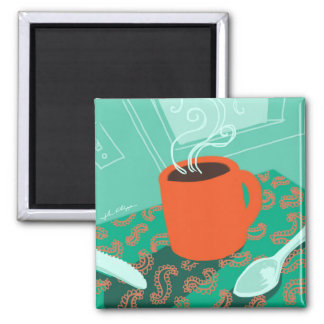 Coffee Cup retro magnet