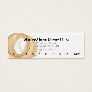 Coffee Cup Stain Punch Card
