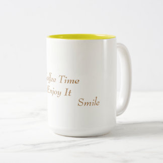Coffee Cup White & Yellow