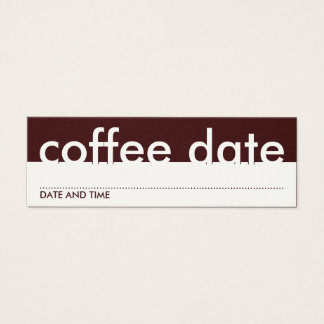 coffee date appointment card