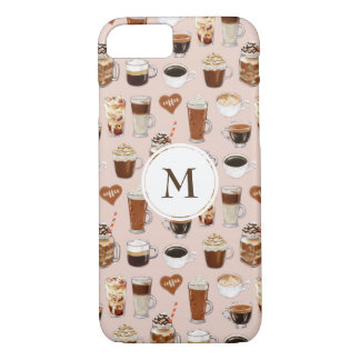 Coffee Drinks and Desserts Pattern iPhone 8/7 Case