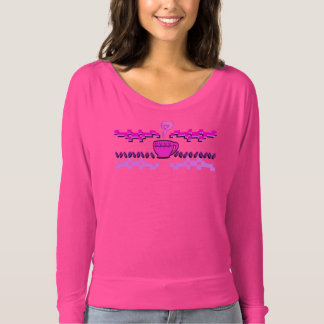 Coffee Fair Isle Dolman Sleeve T-Shirt