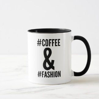 Coffee & fashion hashtag mug
