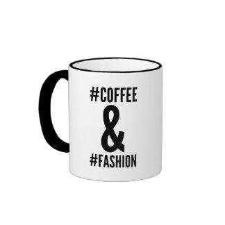 Coffee & fashion hashtag mug