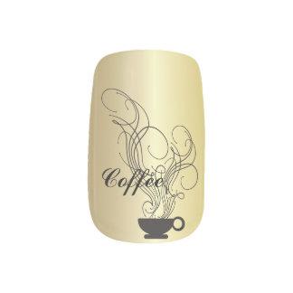 Coffee Gold Background Minx ® Nail Art