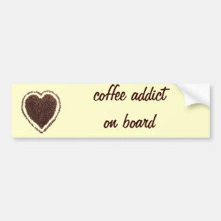 coffee heart bumper sticker