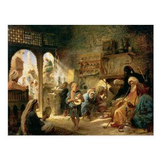 Coffee House in Cairo, 1870s Postcard