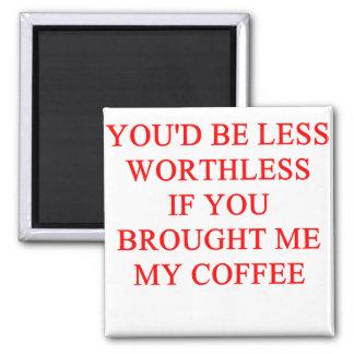 coffee joke square magnet