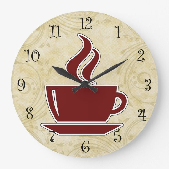 Coffee Kitchen Wall Clocks Zazzle Co Nz