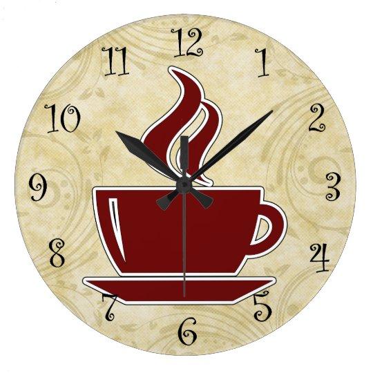 Coffee Kitchen Wall Clocks Zazzle Co Nz