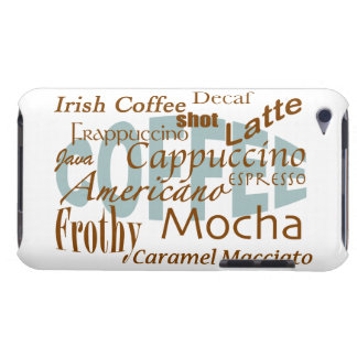 Coffee Lover-word cloud Barely There iPod Covers