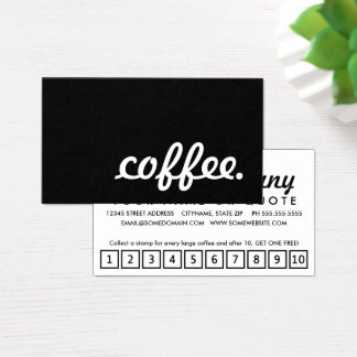 coffee. loyalty punch card