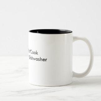 Coffee Mug-Hot cook, hot dishwasher Two-Tone Mug