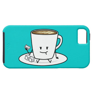 Coffee mug latte coffee eating sugar cubes cream tough iPhone 5 case