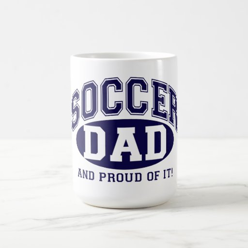 Coffee Mug - Soccer Dad and Proud of it! - Navy Mug