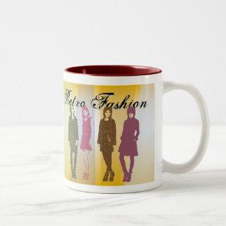 Coffee Mug Template Retro Fashion