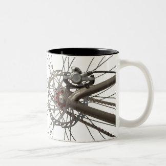 Coffee Mug with Bicycle Back Wheel