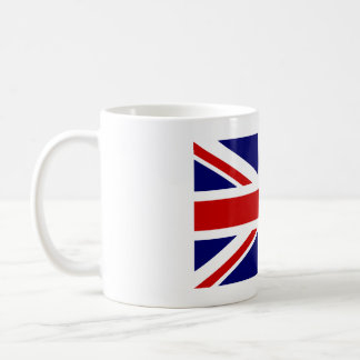Coffee mug with British Union Jack flag