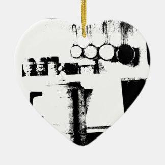 Coffee Pot Ceramic Heart Decoration