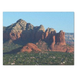 Coffee Pot Rock I in Sedona Arizona Tissue Paper