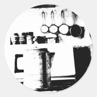 Coffee Pot Round Stickers