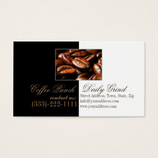 Coffee Punch Shop Daily Grind Black & White Card