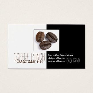 Coffee Punch Shop Three Coffee Beans Cute Card