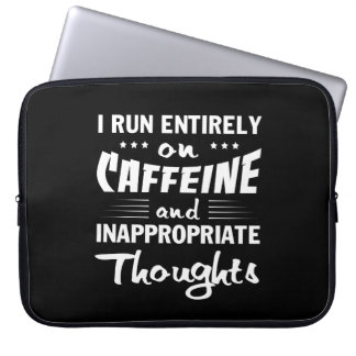 Coffee Run Caffeine Inappropriate Thoughts Laptop Sleeve