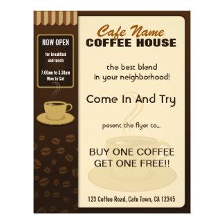 Coffee Shop Cafe Coffee Cup Flyers and Coffee Menu