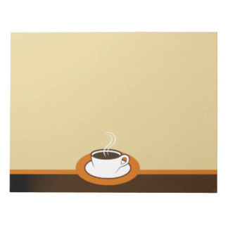 Coffee Shop Coffee Cup Cafe Large Notepads