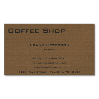 Coffee Shop Magnetic Business Card Magnetic Business Cards