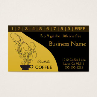 Coffee Shop Punch Cards