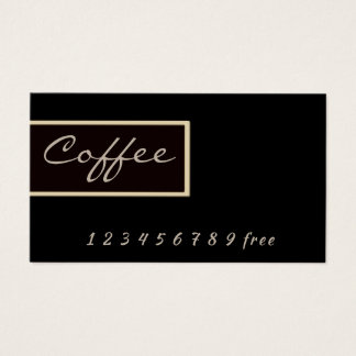 Coffee simple frame loyalty punch-card business card