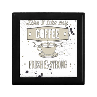 Coffee slogan gift box
