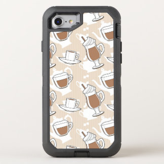 Coffee, sweet pattern OtterBox defender iPhone 8/7 case