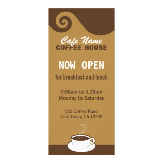 Coffee Swirls Cafe Menu Coffee Shop Rack Cards