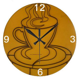 Coffee Tea or Me Time Round Wall Clocks