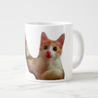 Coffee-time Cat Calls Cute Cat Mug Jumbo Mug