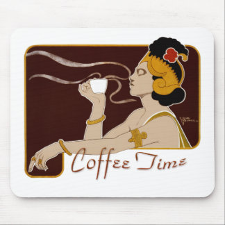 Coffee Time CC0224 Art Nouveau Mousepad
