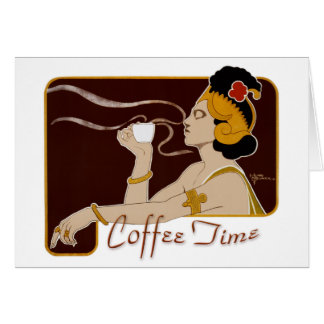 Coffee Time CC0227 Art Nouveau Folded Card