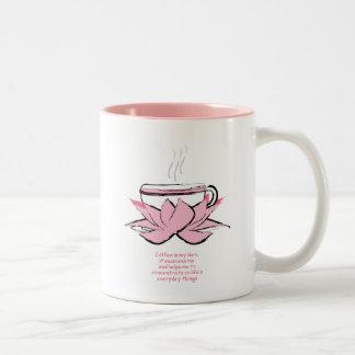 coffee zen Two-Tone coffee mug