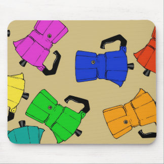 coffeepot colorful pattern mouse pad